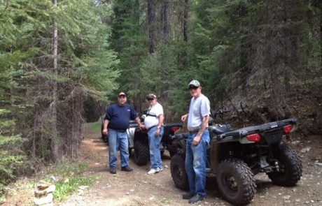 Veterans on ATV ride at Camp Patriot