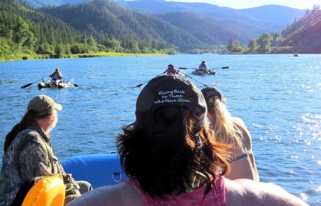 Veterans floating the Kootenai River