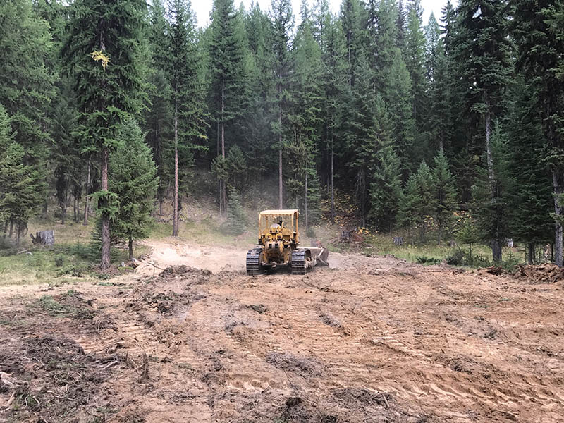 Bulldozer almost done clearing ground for new gun range